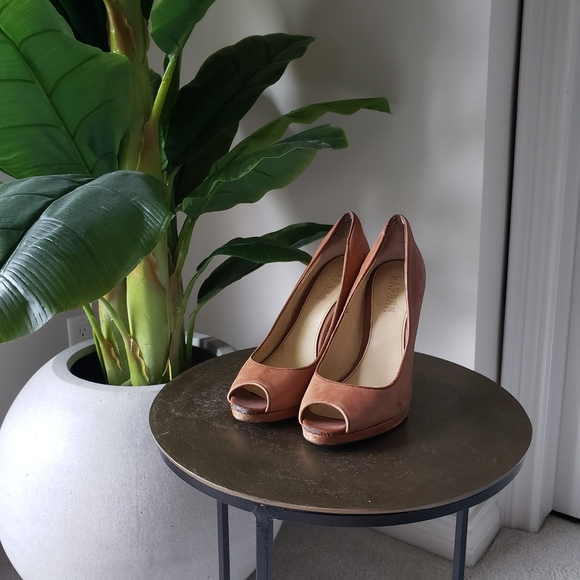 RALPH LAUREN Brown/Tan Heels